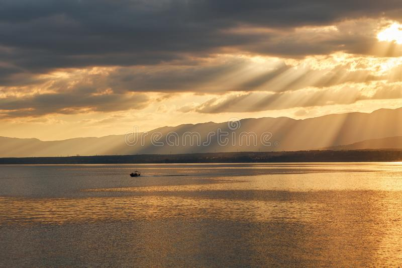 Leman Lake stockfotografie