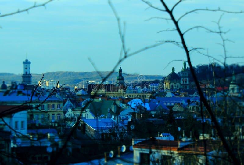 Lemberg-citycenter lizenzfreie stockfotografie