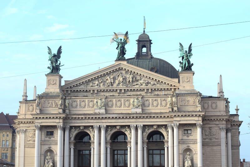 Lemberg-Opernhaus in Lemberg-Stadt, Ukraine stockfotografie