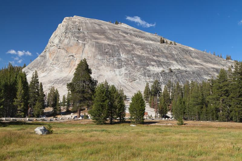 Lembert Dome. From Tuolumne Meadows, Yosemite National Park, California, USA stock photo