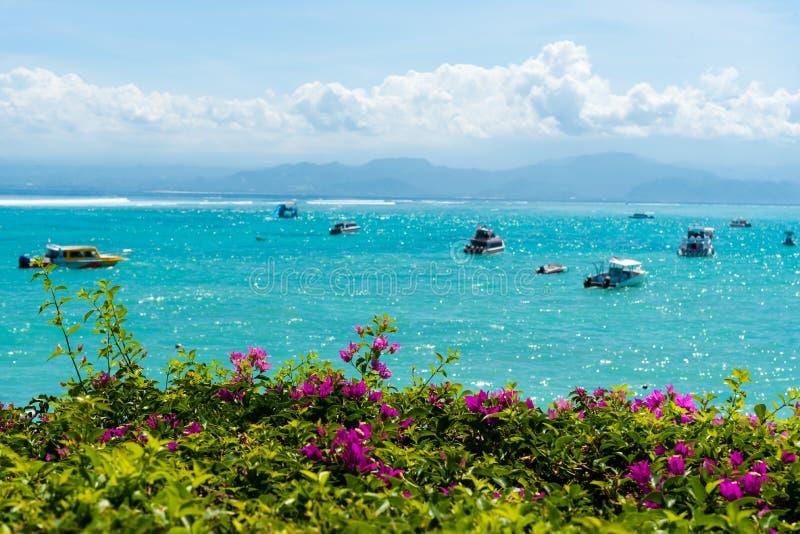 Lembongan热带海岛,其中一种普遍的吸引力在巴厘岛,印度尼西亚 库存图片