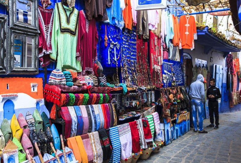 Lembrança de Chefchaouen, Marrocos fotografia de stock