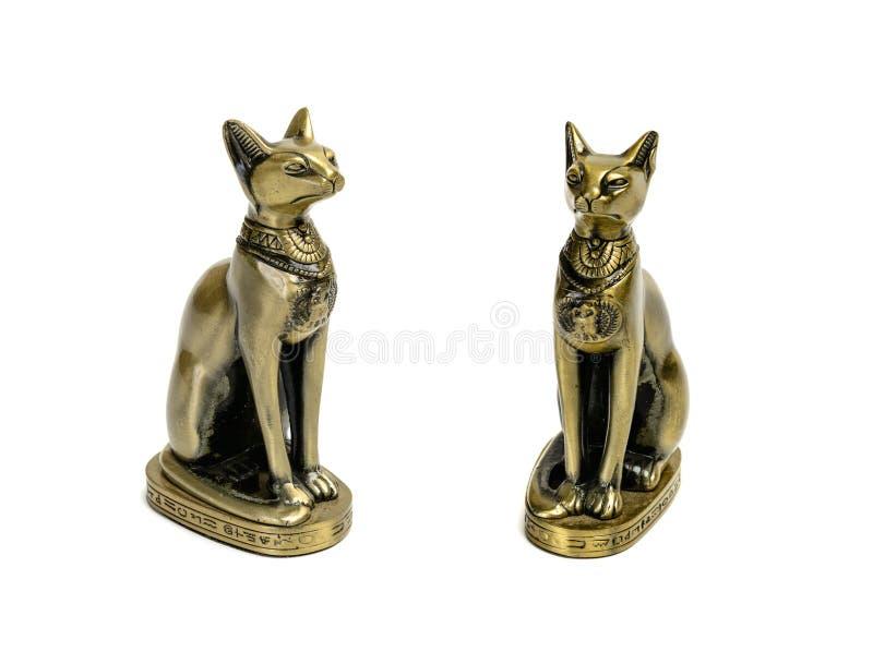 Lembrança do brinquedo da estátua do gato egípcio fotografia de stock