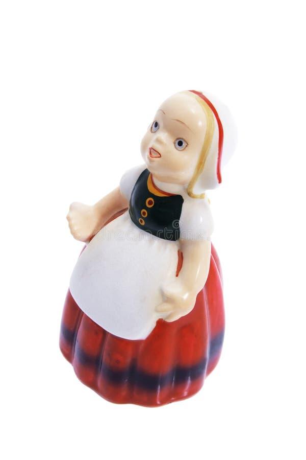 Lembrança do Figurine do Milkmaid fotografia de stock