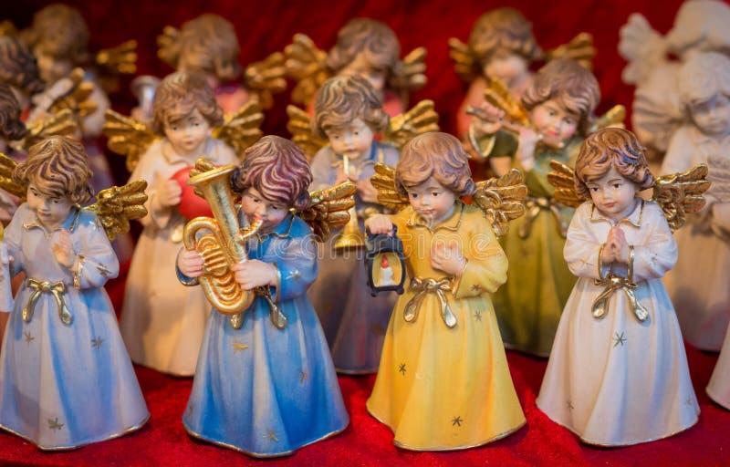 Lembrança do mercado do Natal, Trentino Alto Adige, Itália do norte Natal de Trento, foco seletivo foto de stock