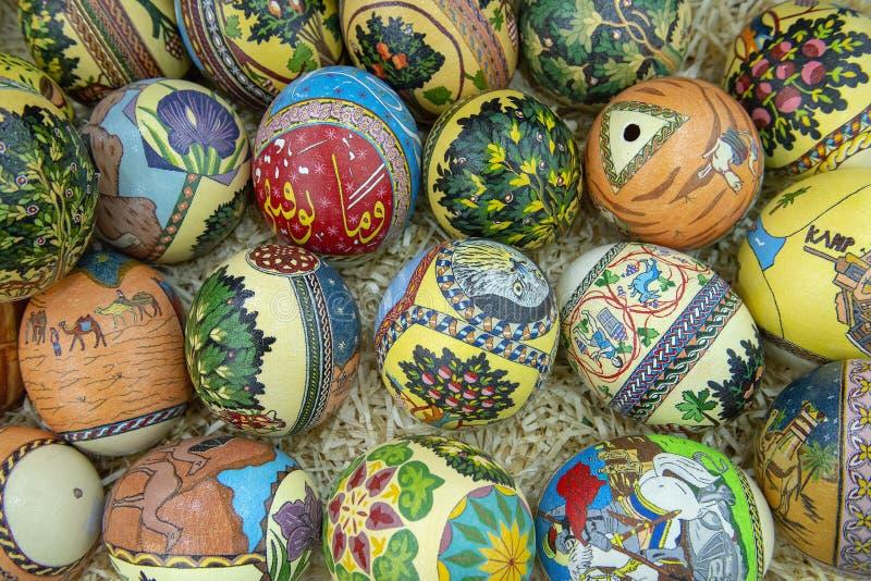 Lembrança dos ovos da avestruz, Jordan Travel fotos de stock royalty free