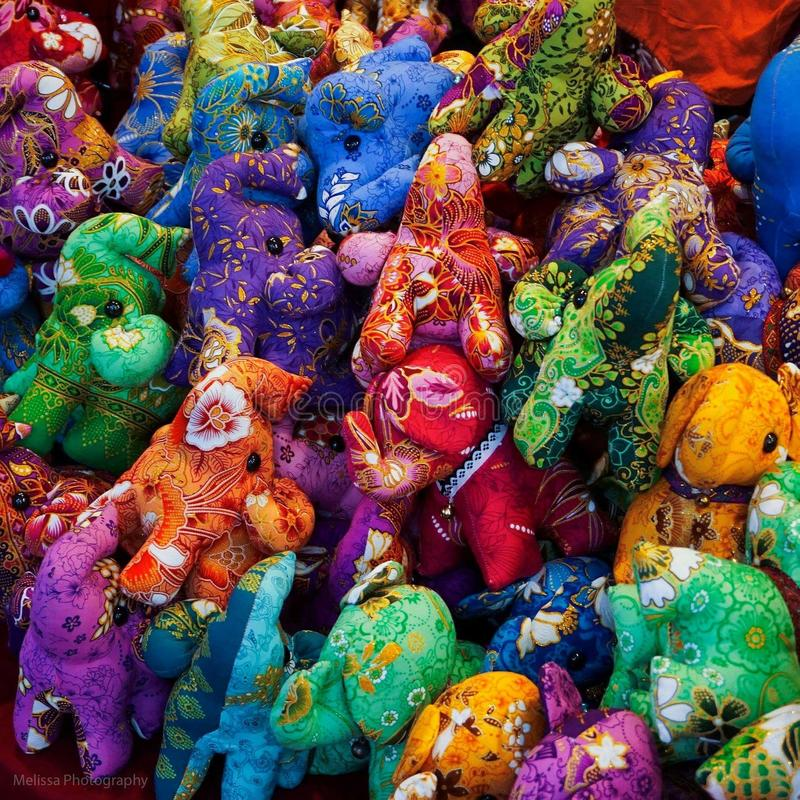 Lembrança luxuoso Tailândia do elefante colorido imagem de stock royalty free