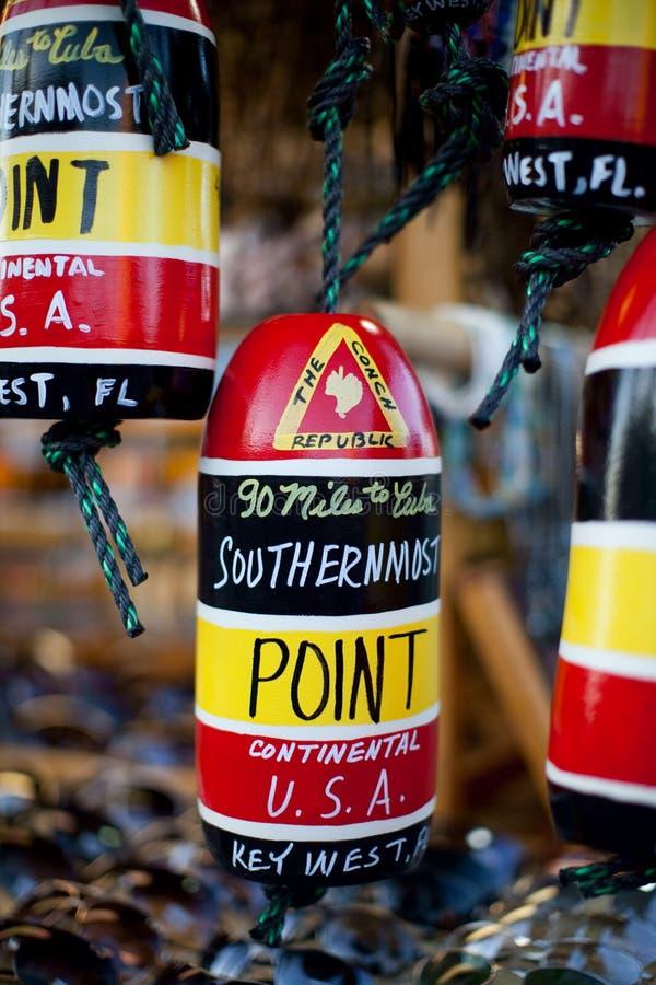 A lembrança a mais southernmost do ponto de Key West fotografia de stock