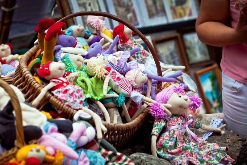 Lembranças de Riga. Brinquedos Handmade imagem de stock royalty free