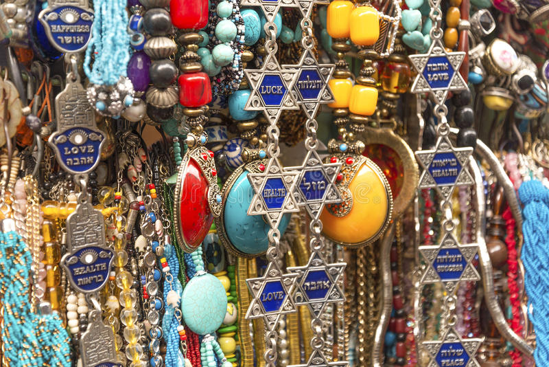 Lembranças do turista em jerusalem Israel fotos de stock