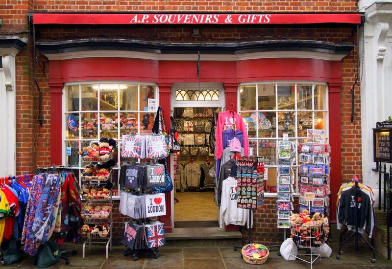 Lembranças e loja de presentes imagens de stock