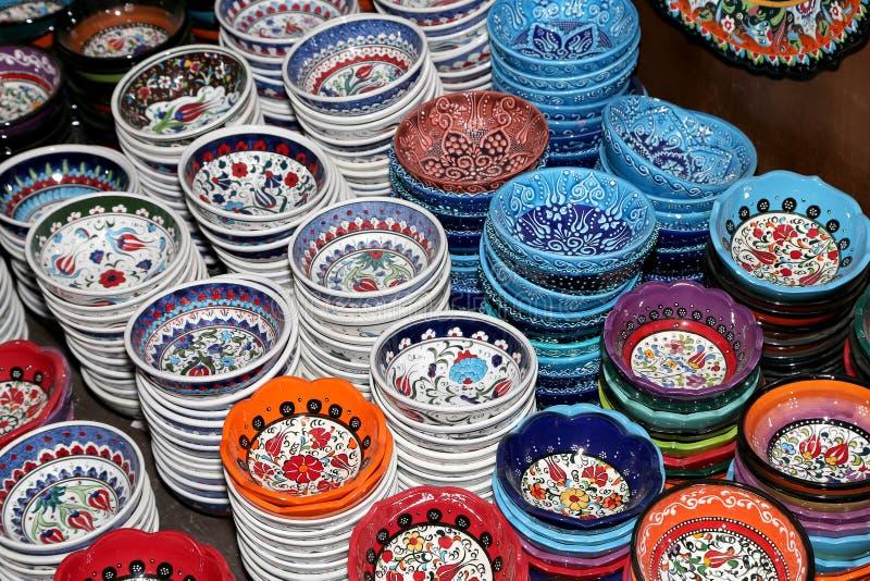 Lembranças locais tradicionais em Jordânia, Médio Oriente foto de stock