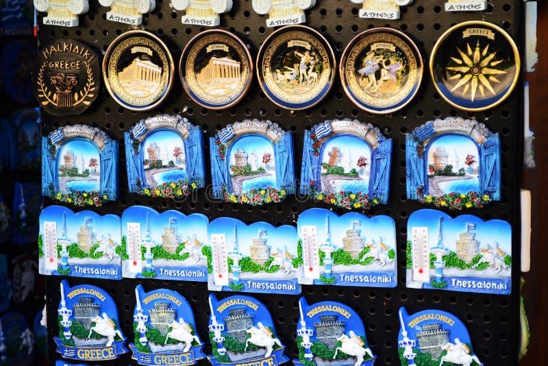 Lembranças magnéticas imagens de stock
