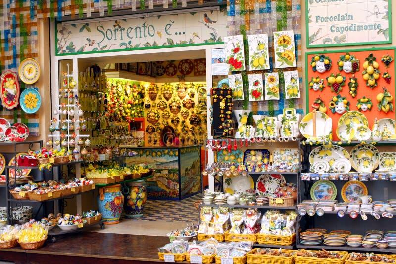 Lembranças Sorrento Itália do limão foto de stock