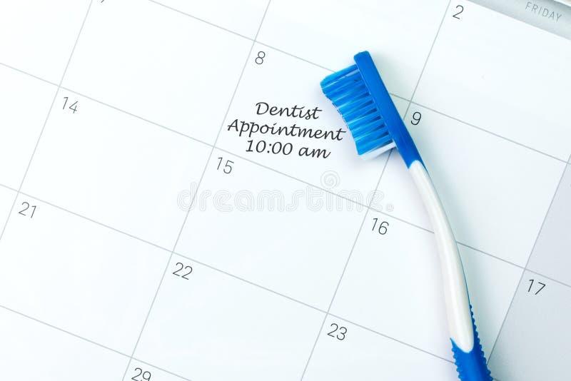Lembrete da nomeação do dentista fotografia de stock royalty free