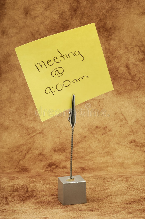 Lembrete da reunião fotografia de stock royalty free