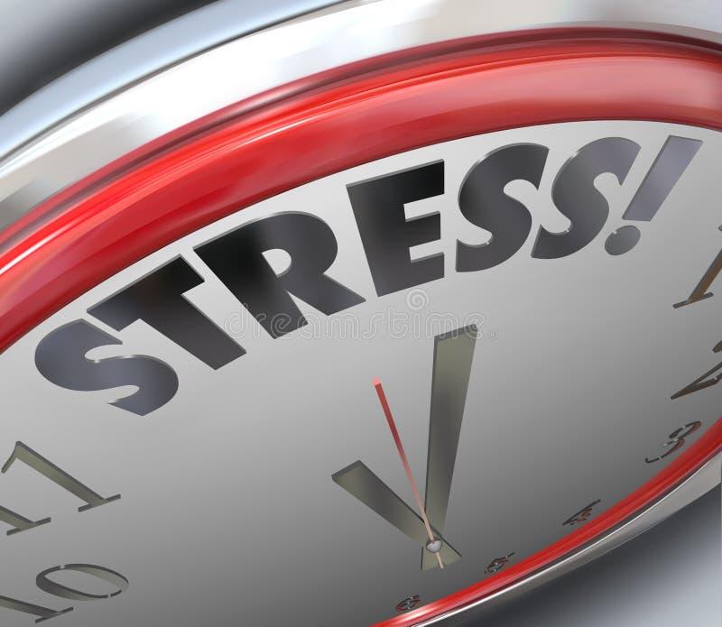 Lembrete do alarme da contagem regressiva do fim do prazo da horas do esforço ilustração stock