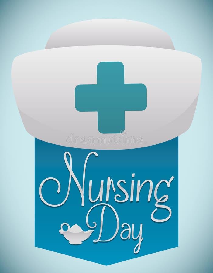 Lembrete do cartaz com a capota para comemorar o dia internacional dos cuidados, ilustração do vetor ilustração royalty free