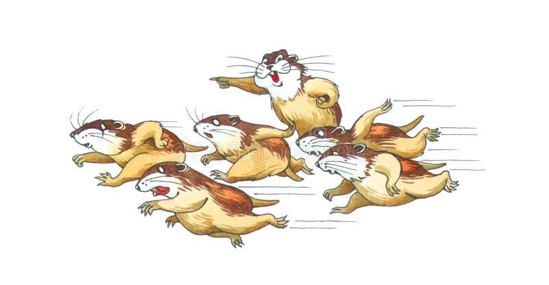 Lemmings illustration de vecteur