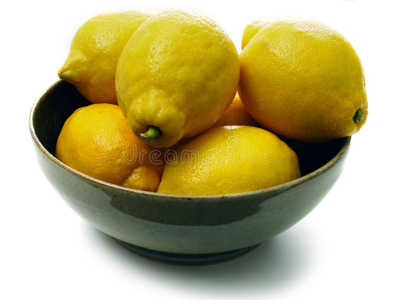 Lemon bowl stock photos