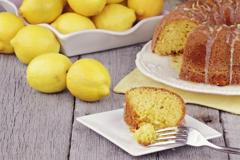 Download Lemon Bundt Cake stock photo. Image of flavoured, many - 19381132
