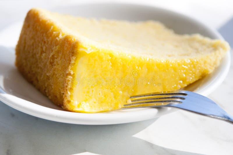 Lemon butter cake stock images
