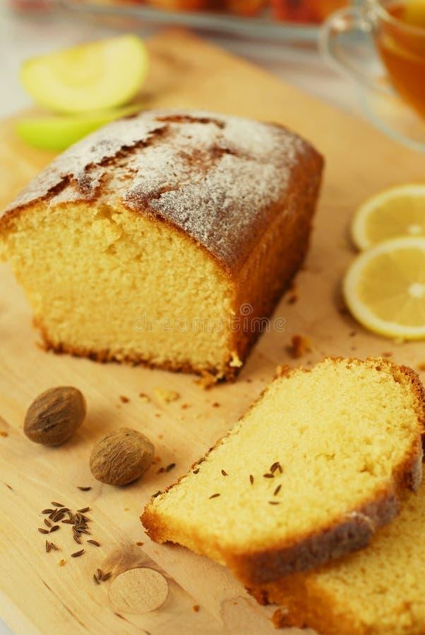Download Lemon Cake stock image. Image of fancy, cooking, family - 10549793