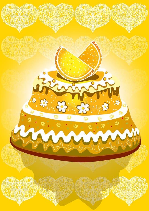 Download Lemon cake stock vector. Image of dessert, lace, chocolate - 23492852