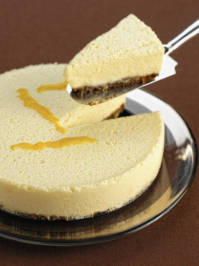 Lemon cheesecake. Food, gastronomy, culinary, cookery stock image