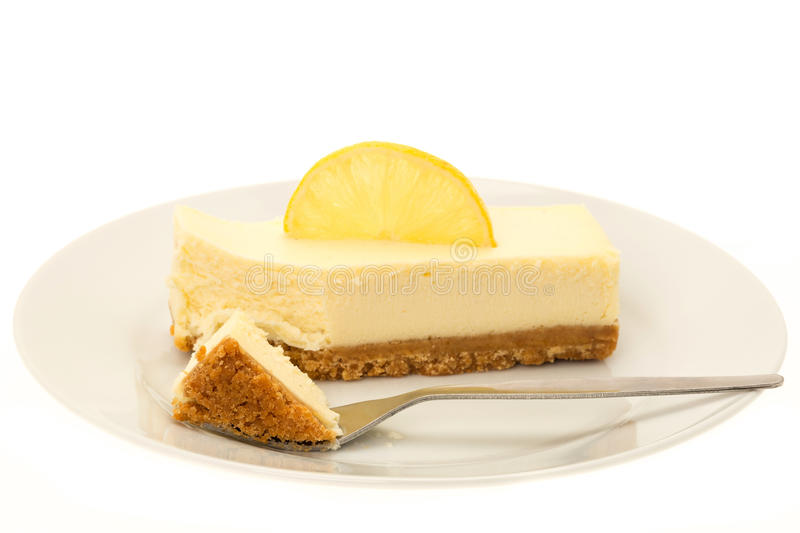 Lemon cheesecake royalty free stock images
