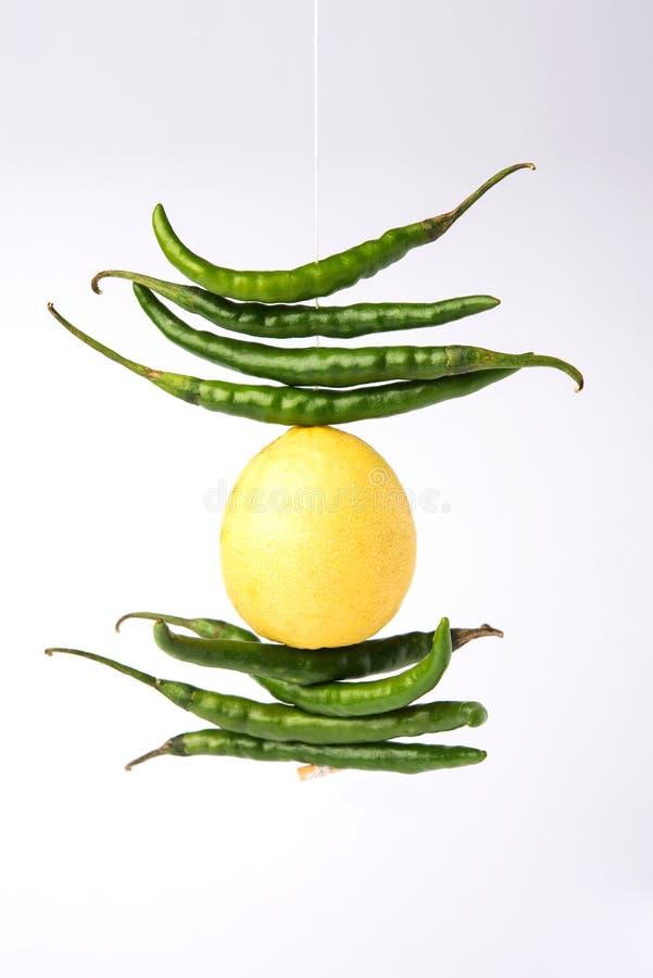 Free Lemon Chilli Totka Or Black Magic Hanging Stock Image - 106373151