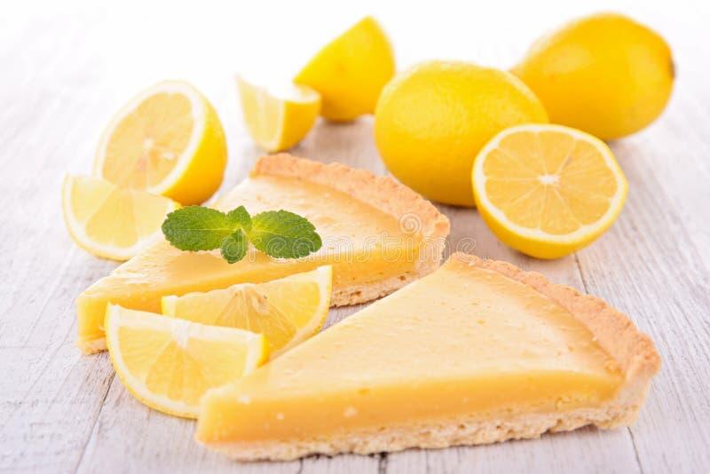 Lemon citrus tart royalty free stock photos