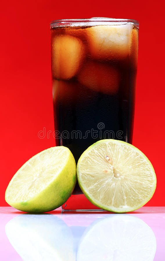Download Lemon and cola drink stock image. Image of glass, colored - 16958729