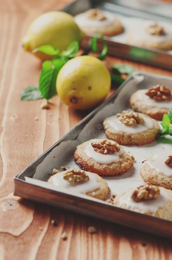 Lemon cookie stock photography