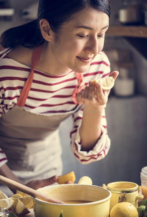 Lemon curd food photography recipe idea royalty free stock images