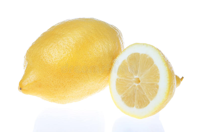 Download Lemon Cut Into A White Background. Stock Image - Image: 24333021