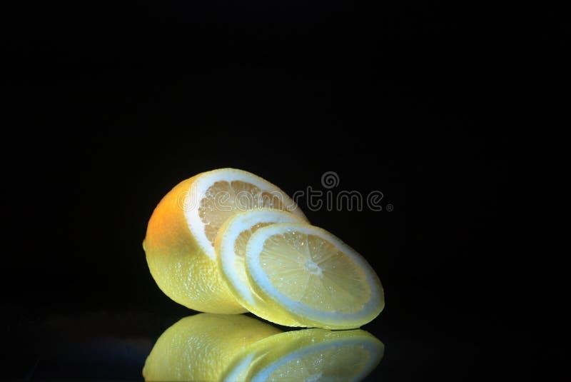 Download Lemon on dark stock photo. Image of food, vegetarian, refraction - 7281806