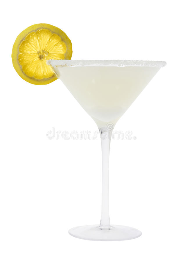 Free Lemon Drop Cocktail On A White Background Royalty Free Stock Photos - 12852688