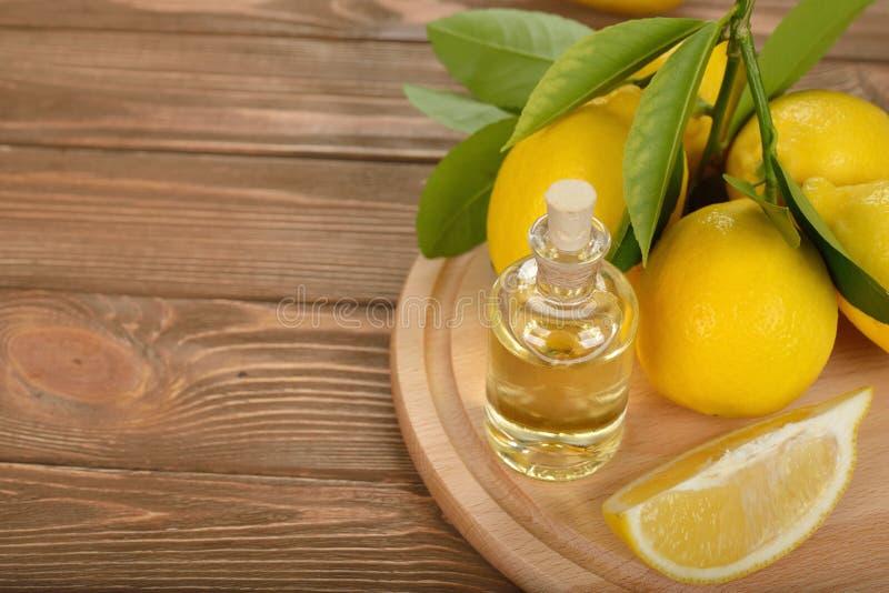 Lemon essential oil royalty free stock images