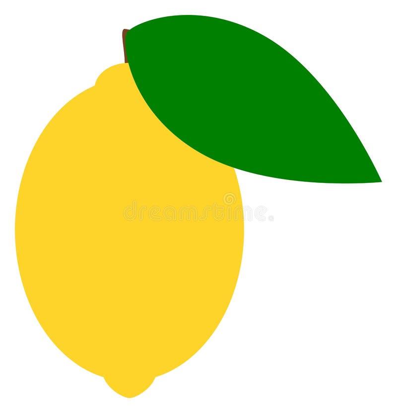 Lemon flat icon. Citrus clipart. Vector illustration. Lemon flat icon. Citrus clipart. Isolated vector illustration vector illustration