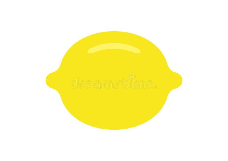 Lemon. flat style royalty free stock photos