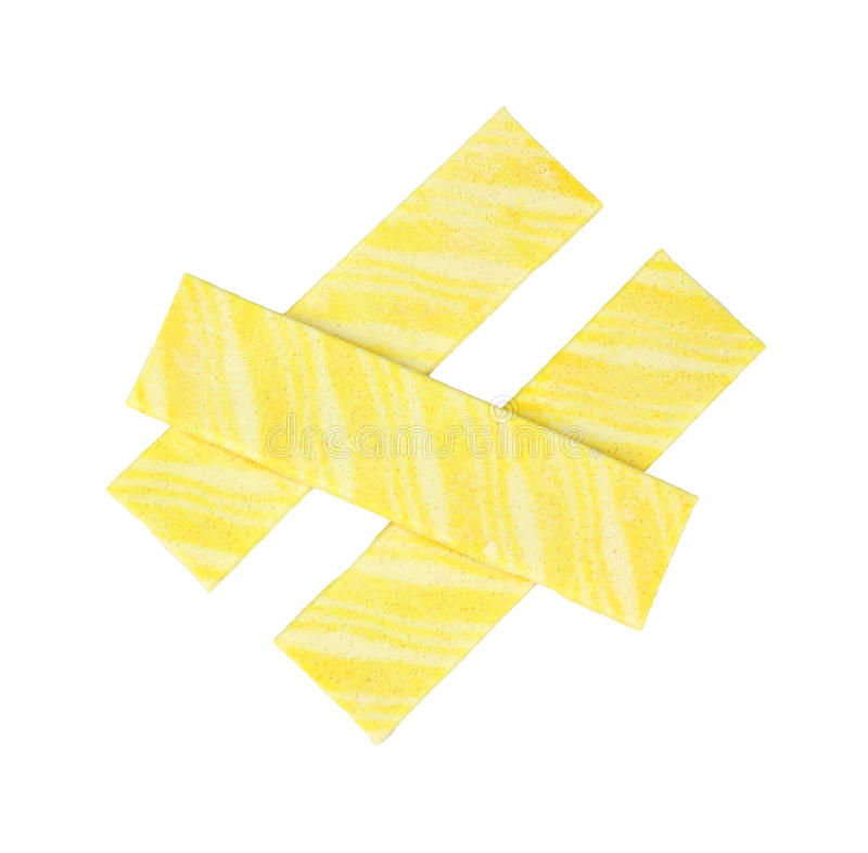 Download Lemon flavored gum stock image. Image of sweet, stripes - 17956519