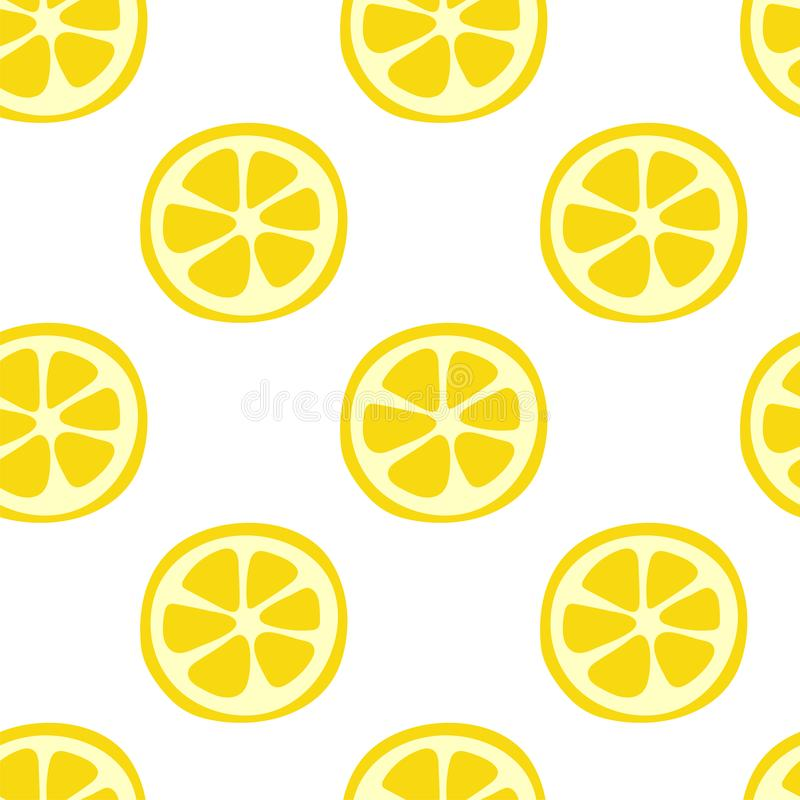 Lemon fruit seamless pattern. Fashion design. Food print for kitchen tablecloth, curtain or dishcloth. Hand drawn doodle wallpaper. Vector citrus sketch vector illustration