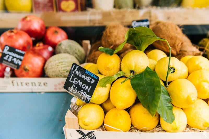 Lemon Fruit Stall royalty free stock photo