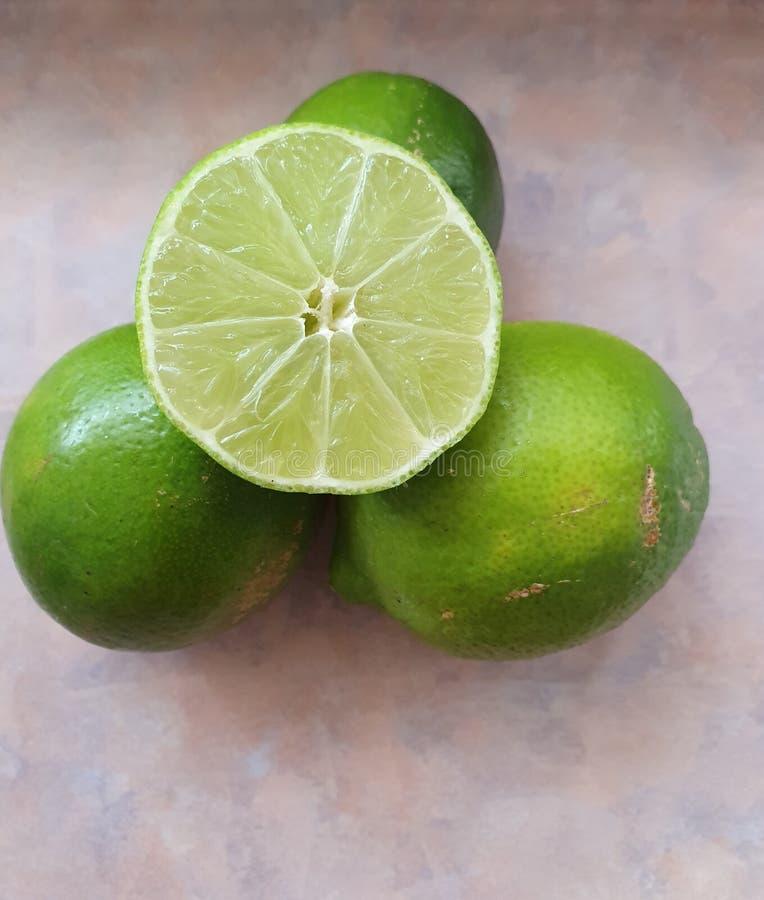 lemon fruits on the table stock photo