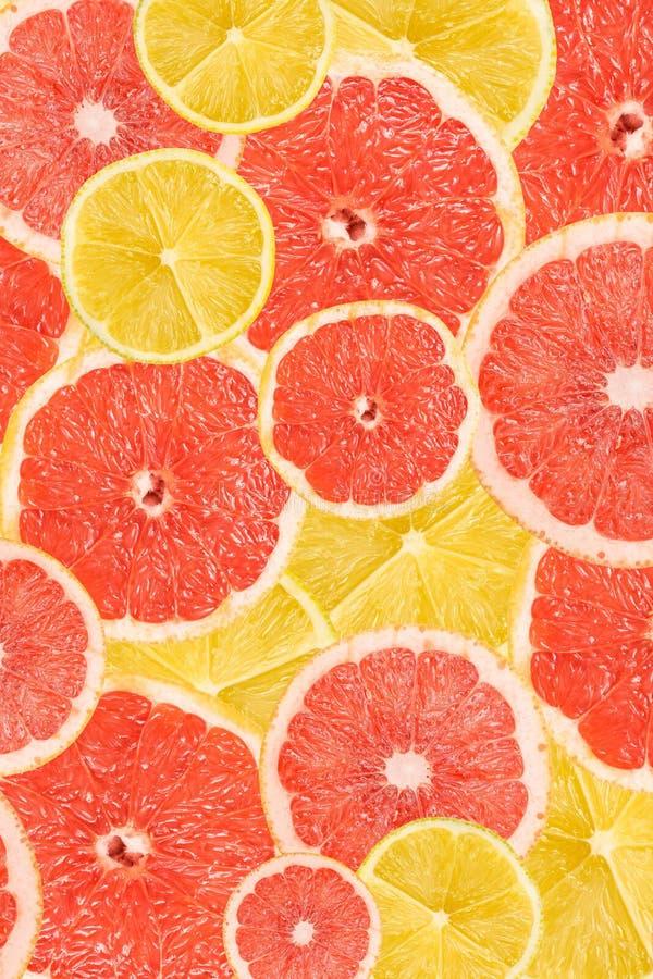 Lemon And Grapefruit Slice Abstract stock image