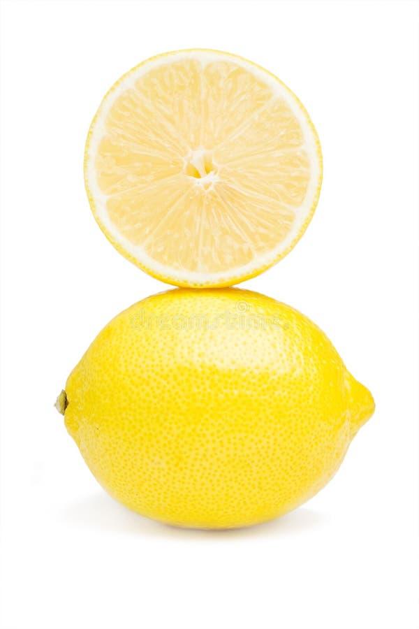 Lemon and half stock image