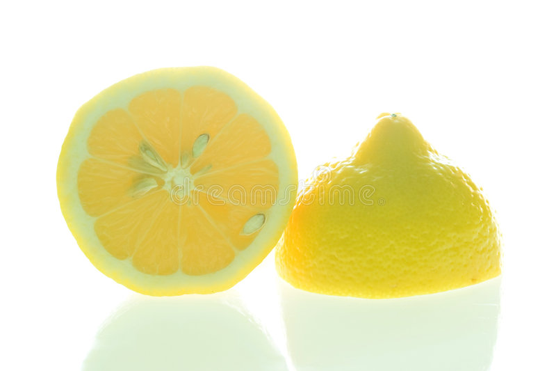 Lemon halves royalty free stock photo