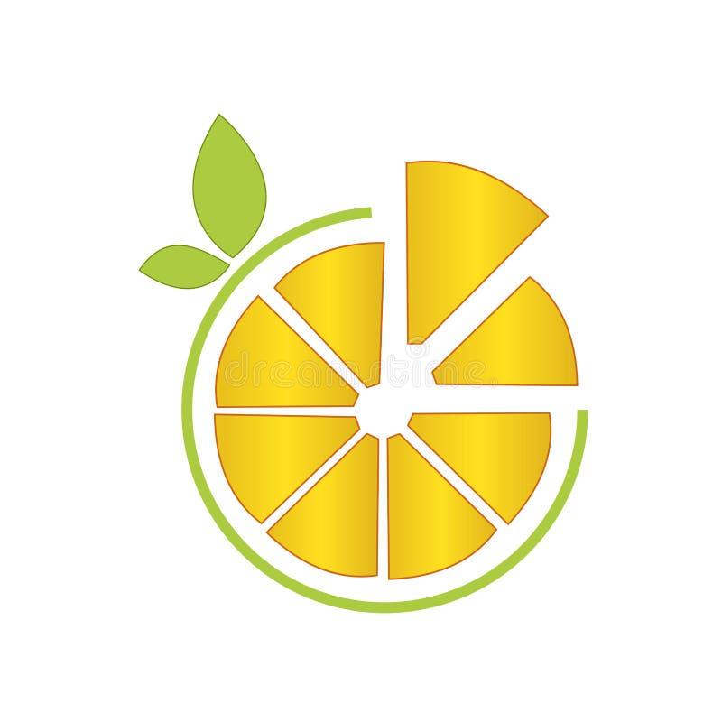 Yellow Lemon illustration vector logo fresh fruit stock illustration