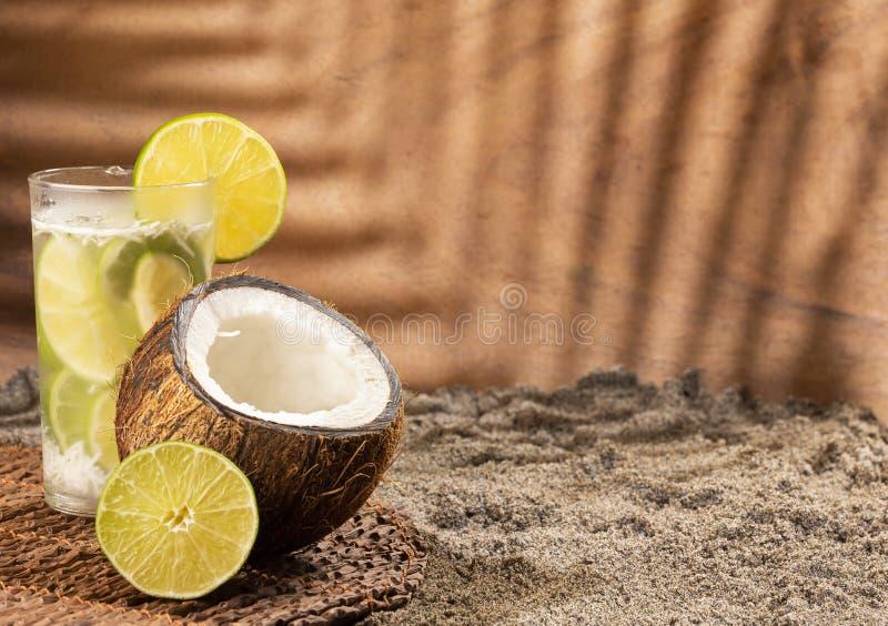 Lemon Juice and Coconut juice - Citrus × limon. Lemon Juice and Coconut juice stock photos